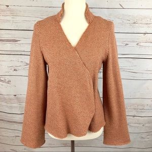 Anthropologie Burnt Coral Sparrow Cardigan